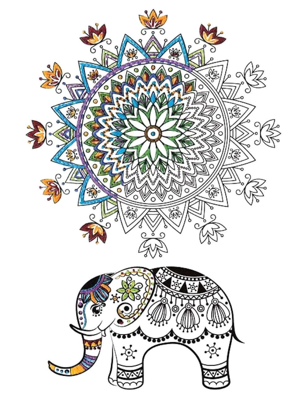 Design Works - Zenbroidery Elephant Mandala