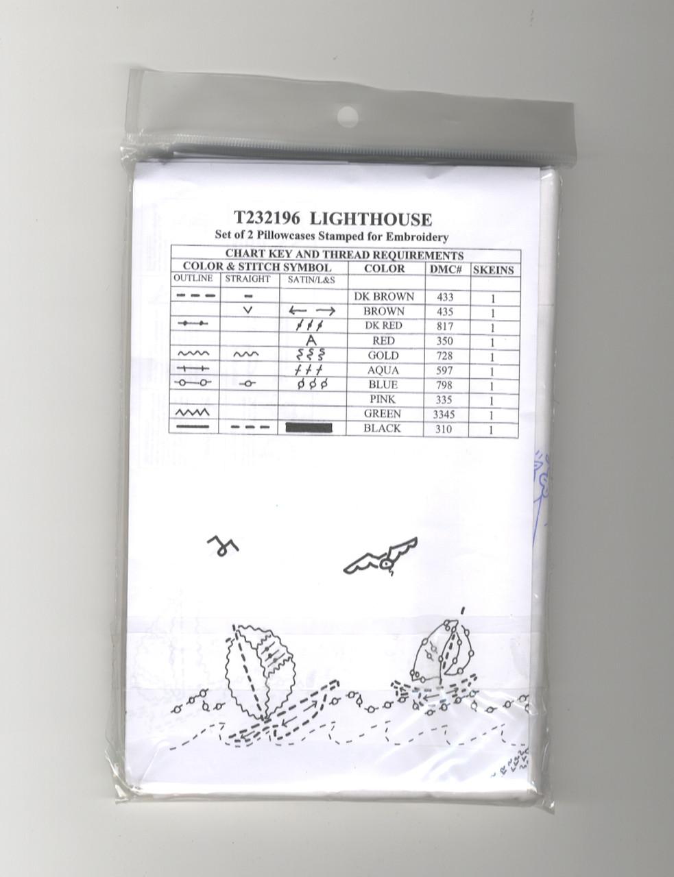 Design Works - Lighthouse Pillowcase Pair