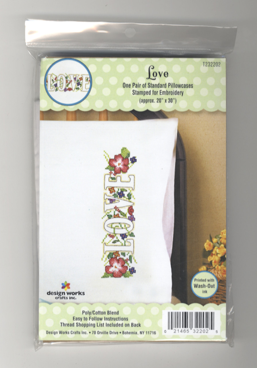 Design Works - Love Pillowcase Pair
