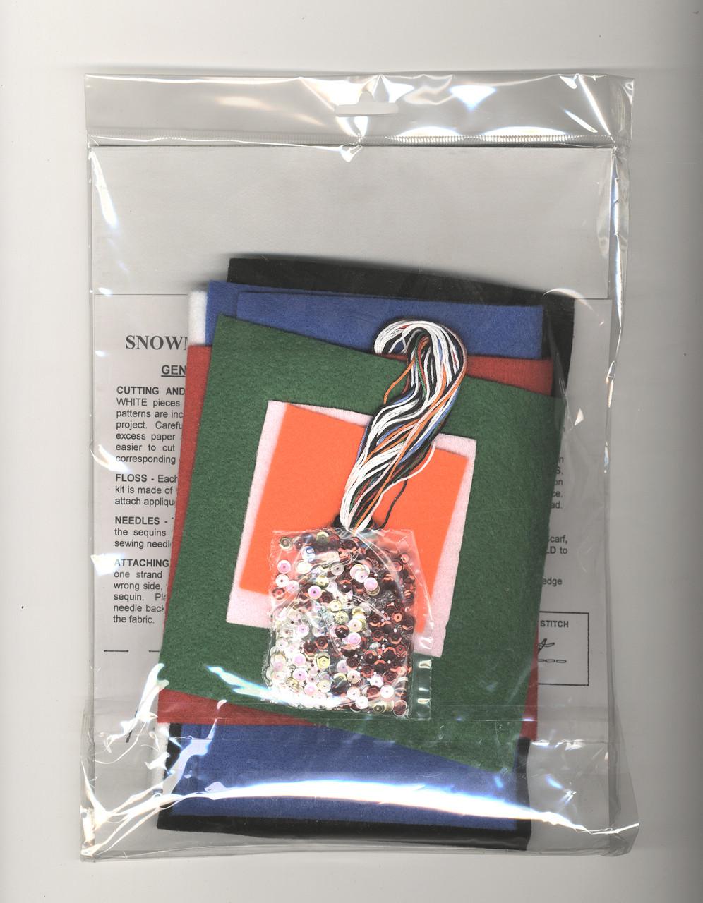 Design Works - Set of 6 Snowman Silverware Pockets