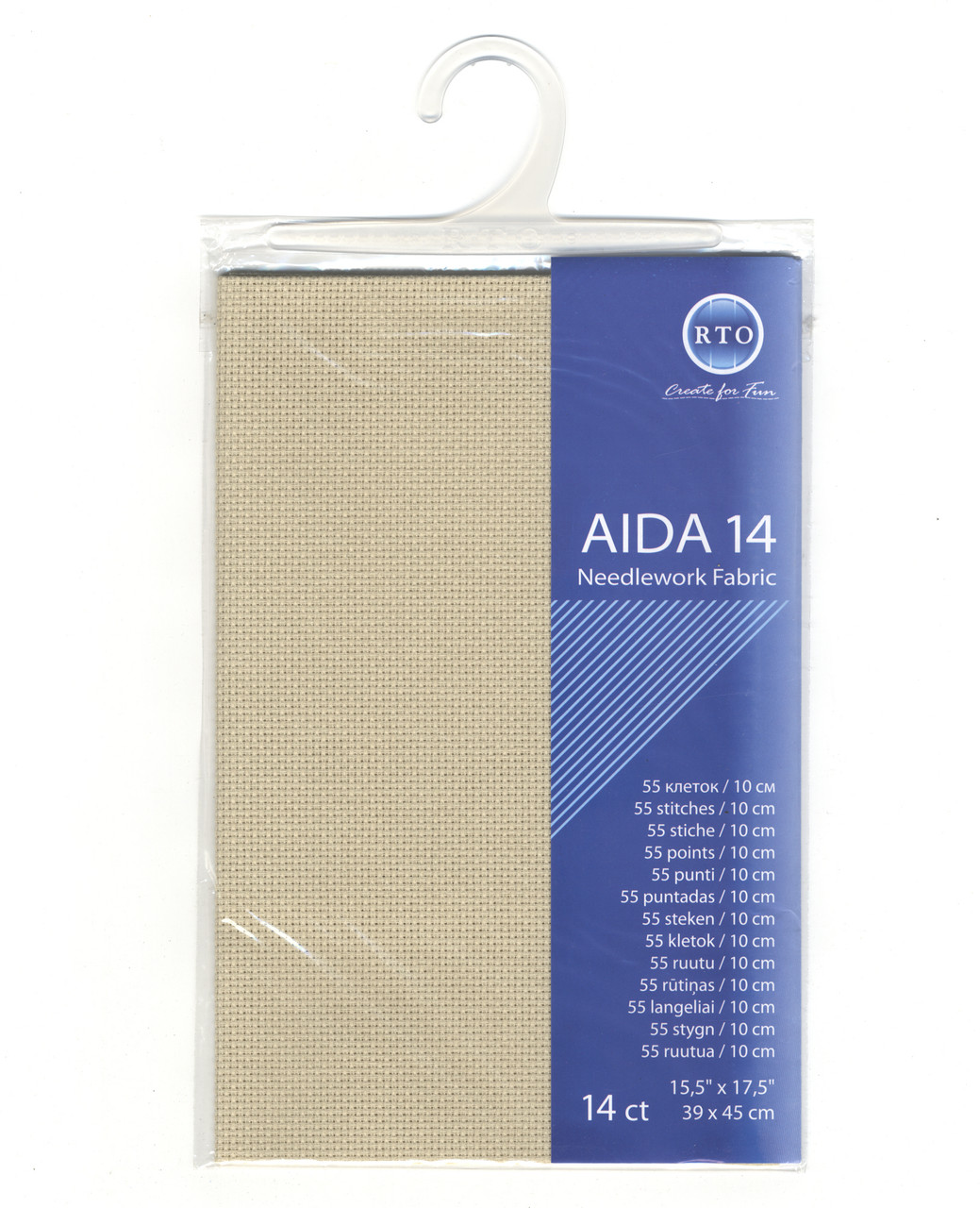 "RTO - Beige 14 Count Aida Fabric 15.5"" x 17.5"""