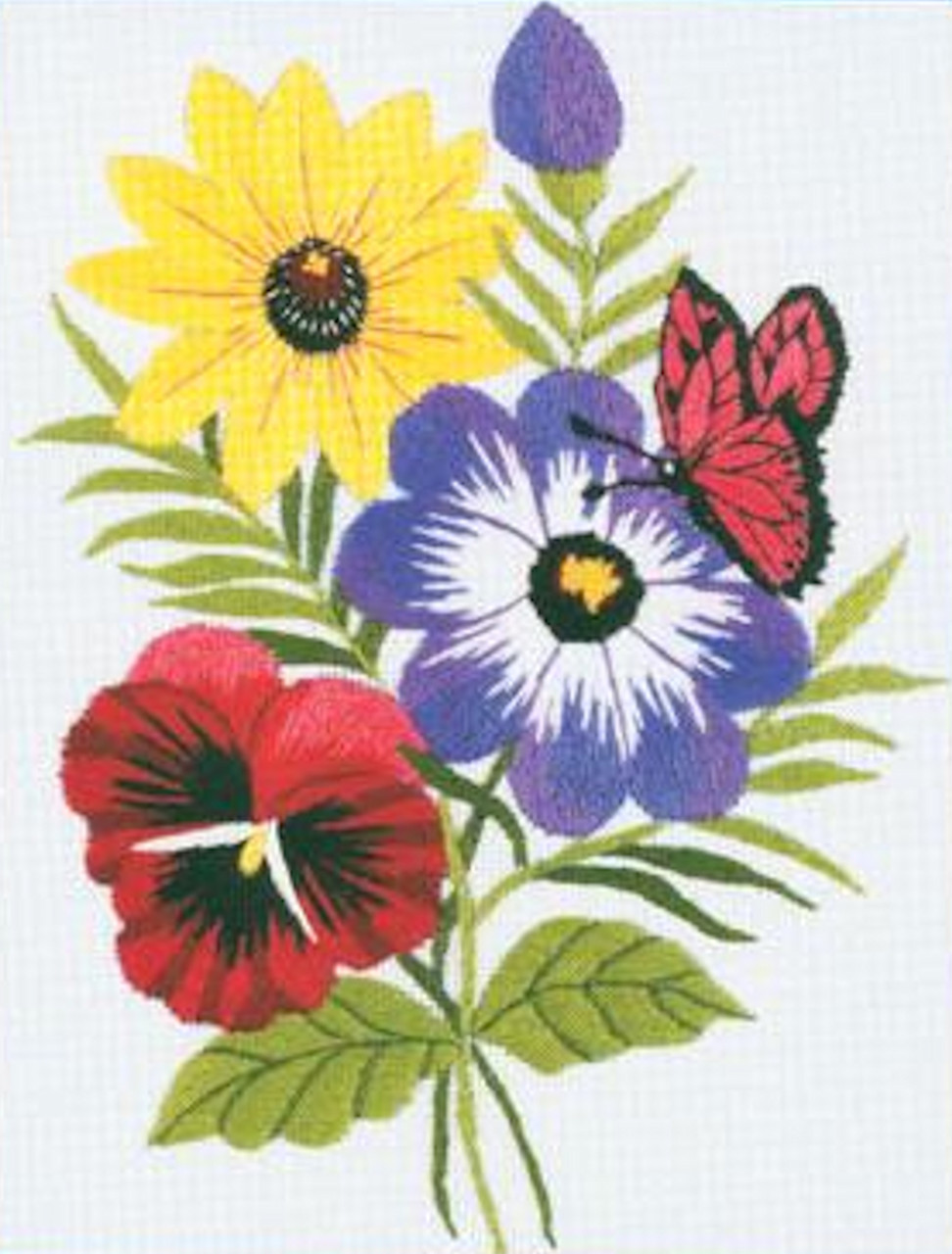 Janlynn Minis - Floral Embroidery