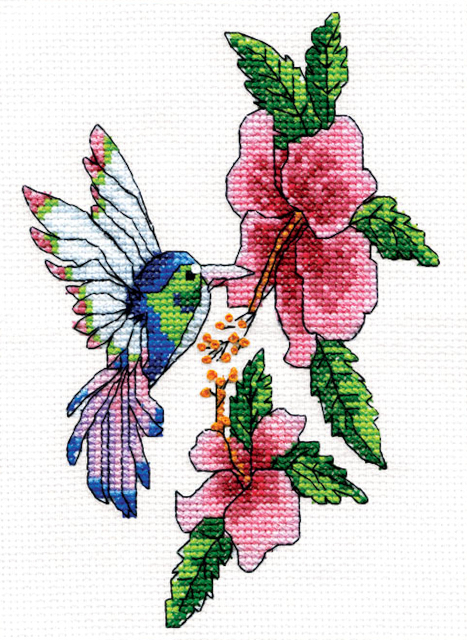 Design Works - Hummingbird and Flowers