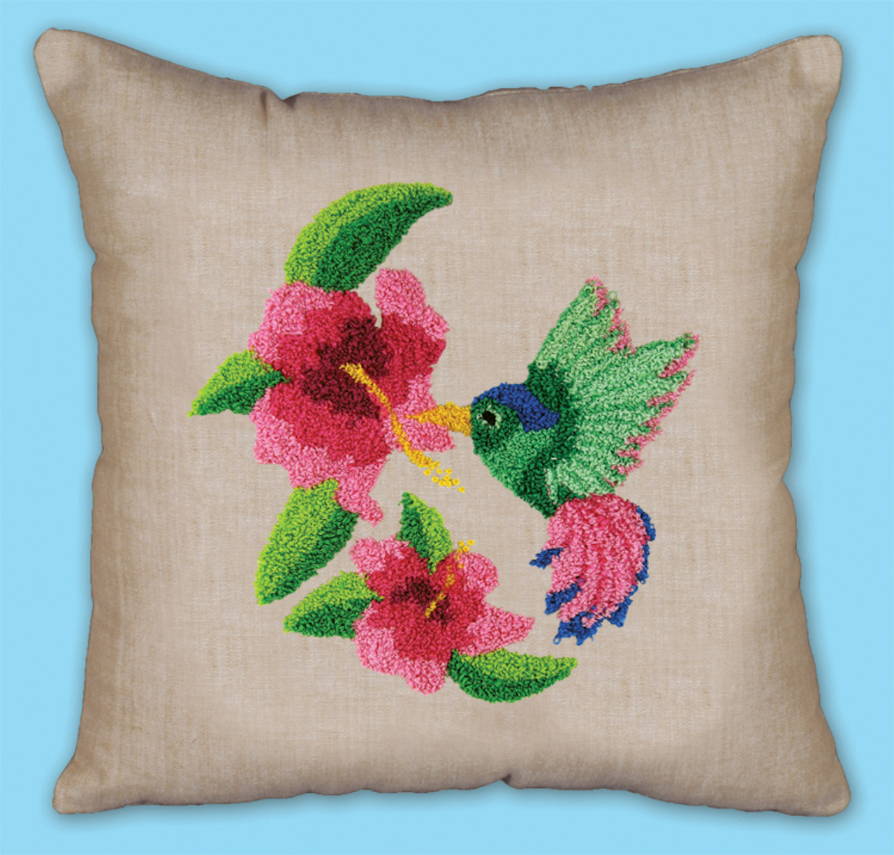 Punch Needle Pillow Kit - Hummingbird