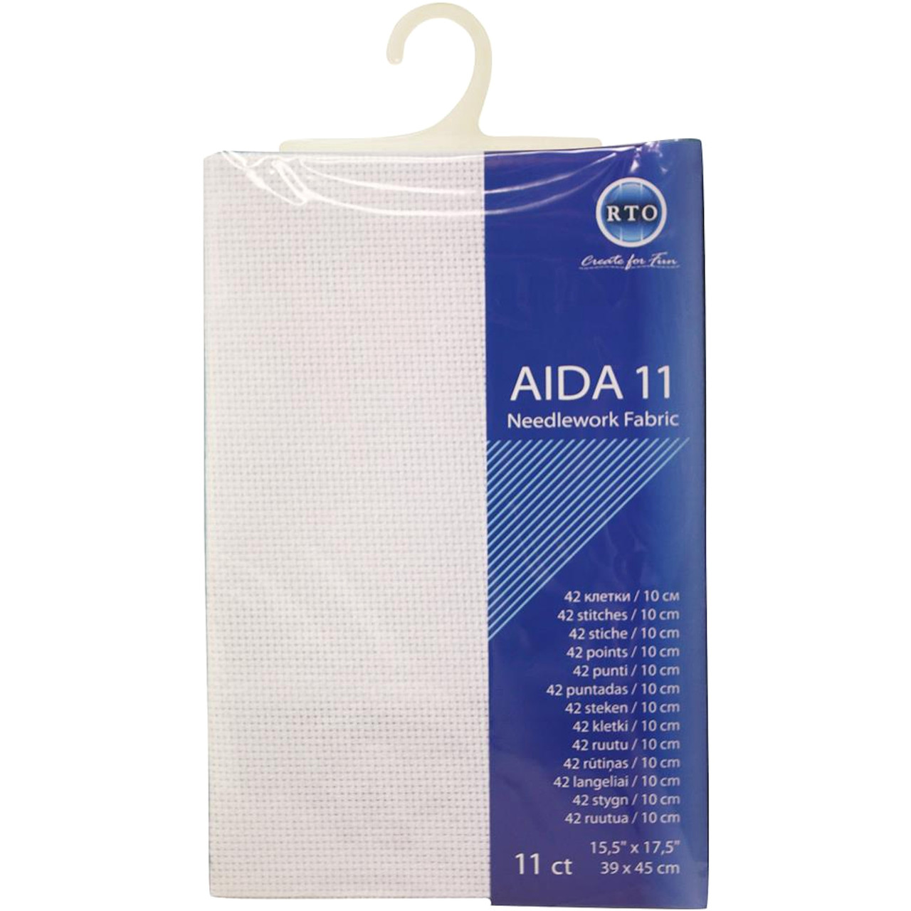 "RTO - White 11 Count Aida Fabric 15.5"" x 17.5"""