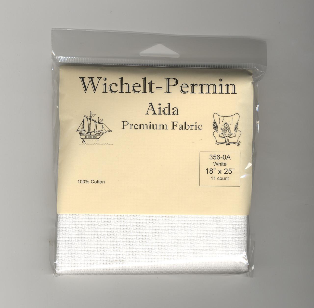 "Wichelt - 11 Count White Aida 18"" x 25"""