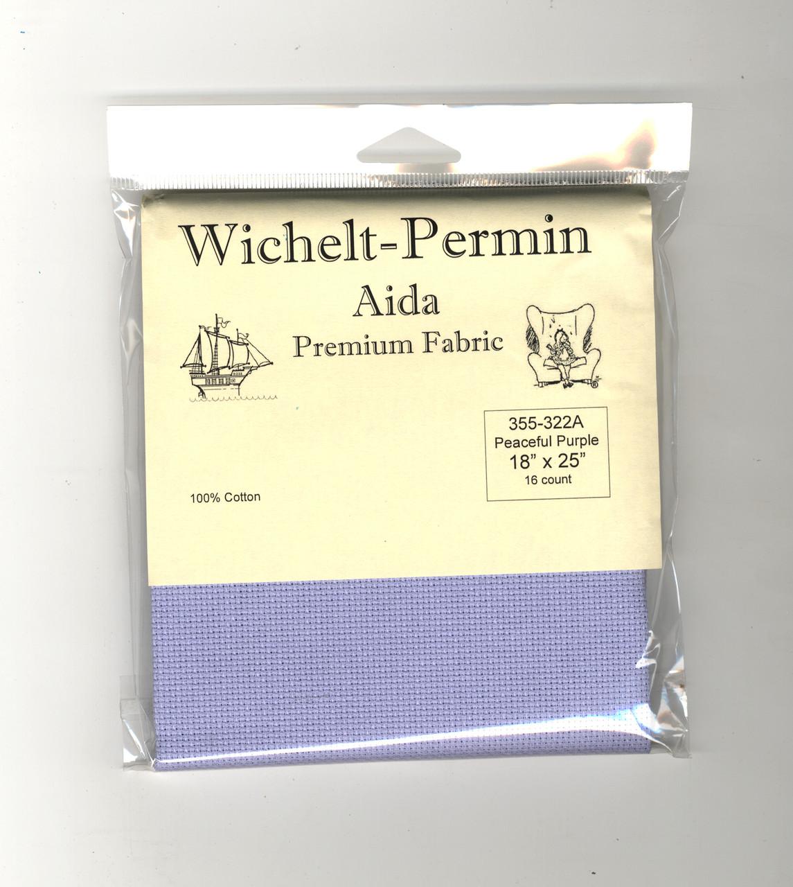 "Wichelt - 16 Count Peaceful Purple Aida 18"" x 25"""