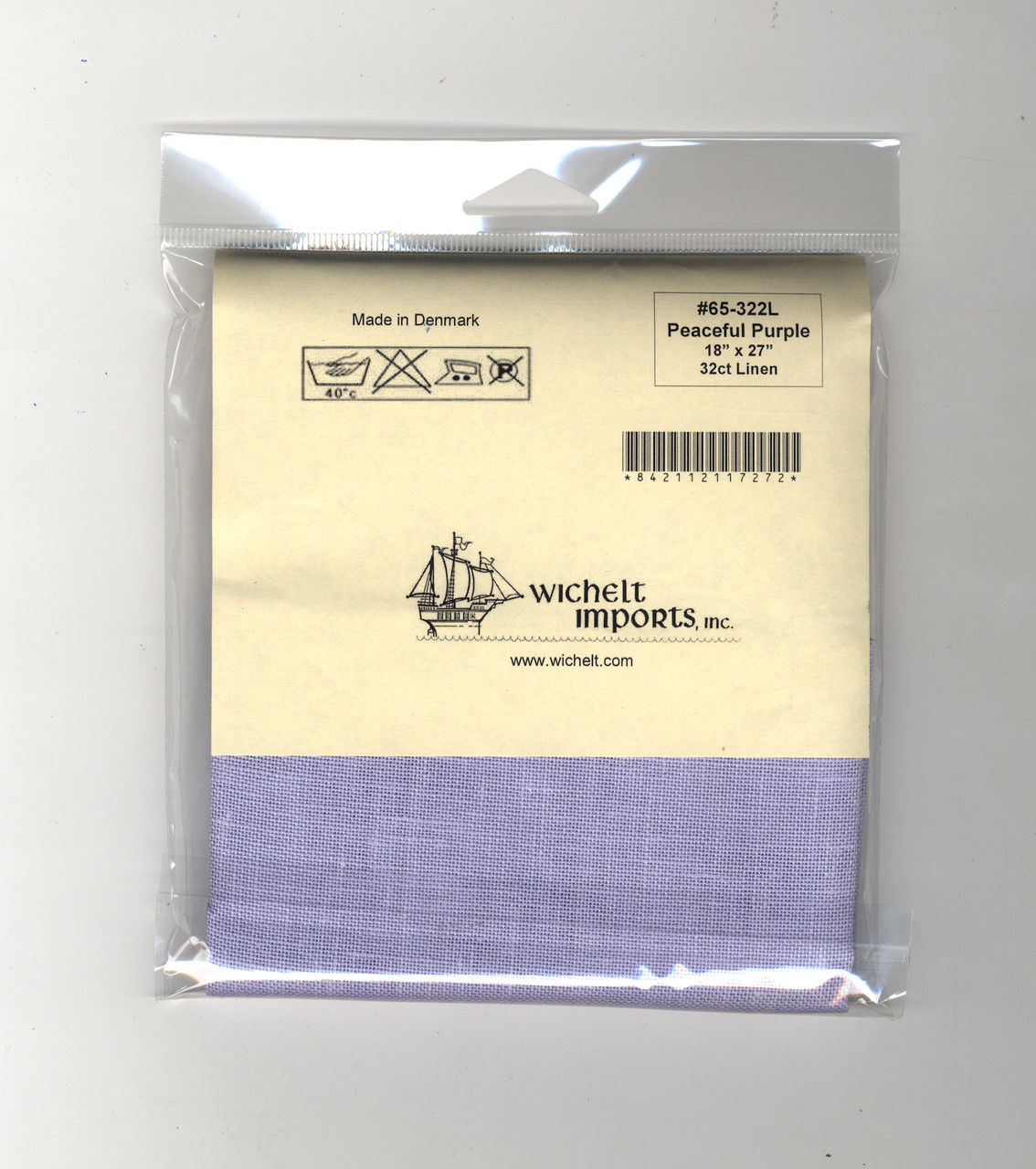 "Wichelt - 32 Count  Peaceful Purple Linen 18"" x 27"""