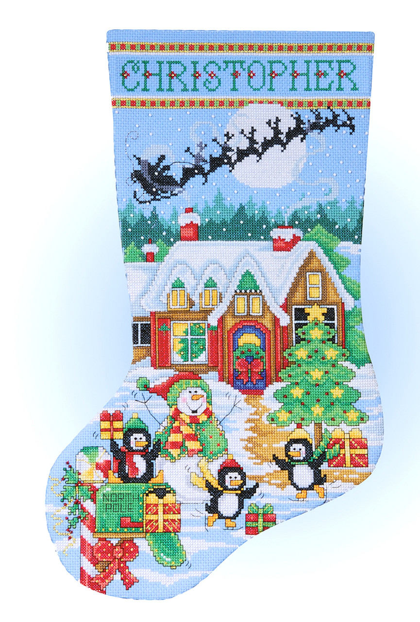 Design Works - Penguin Party Christmas Stocking