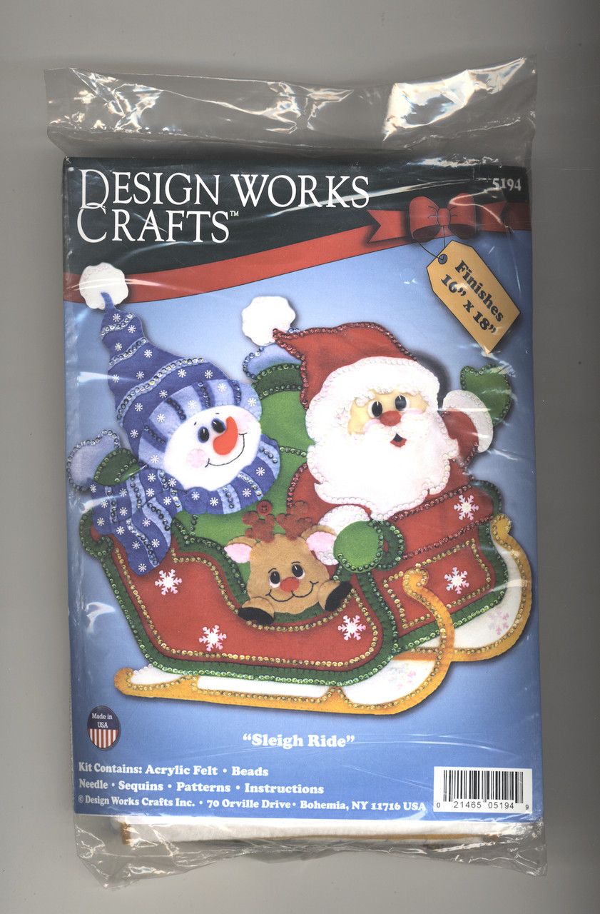 Design Works - Sleigh Ride Christmas Felt Wall Hanging