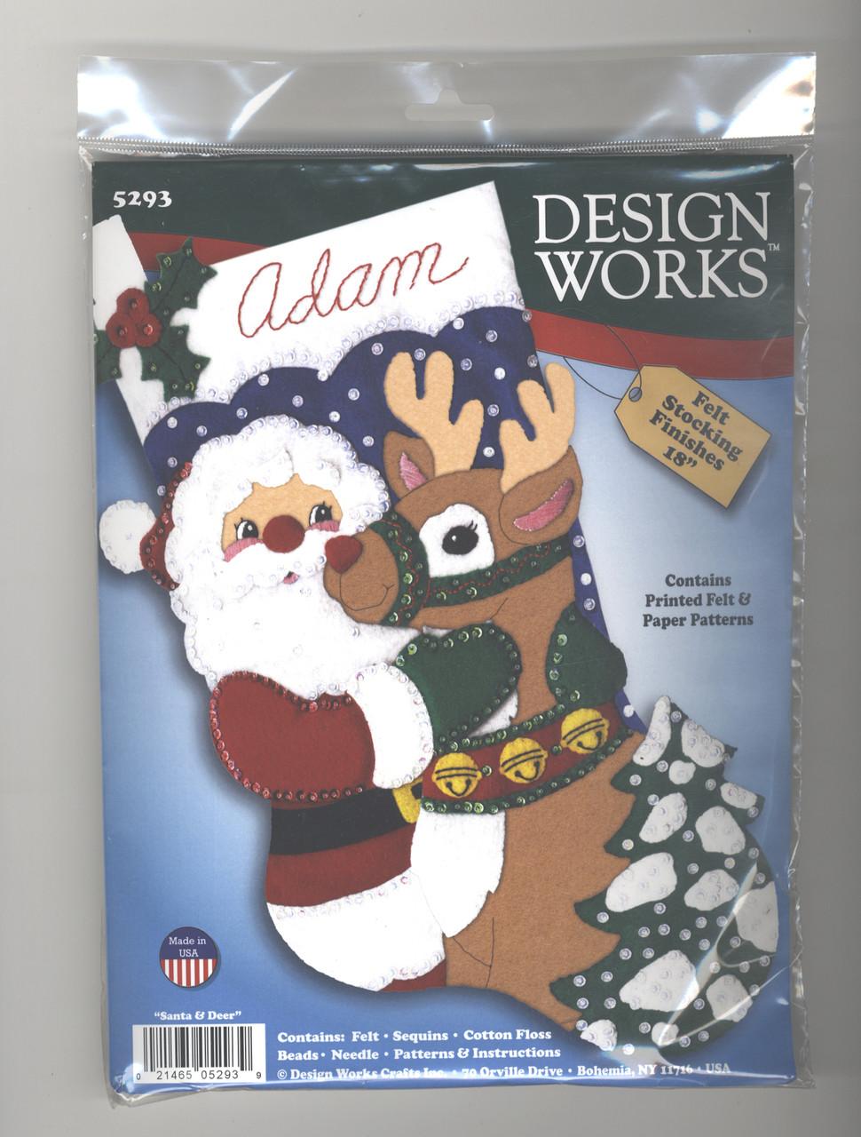 Design Works - Santa & Deer Felt Stocking