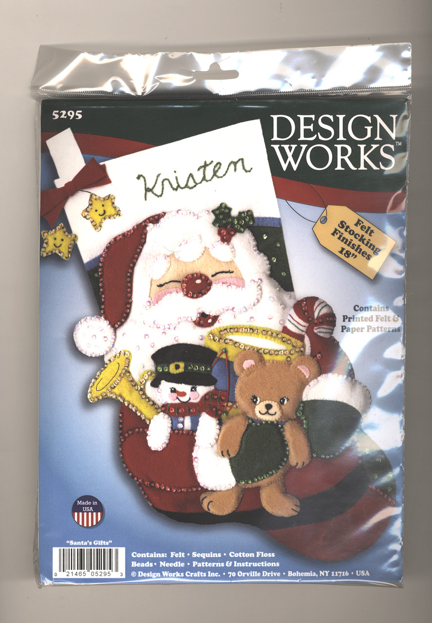 Design Works - Santa's Ride Felt Stocking