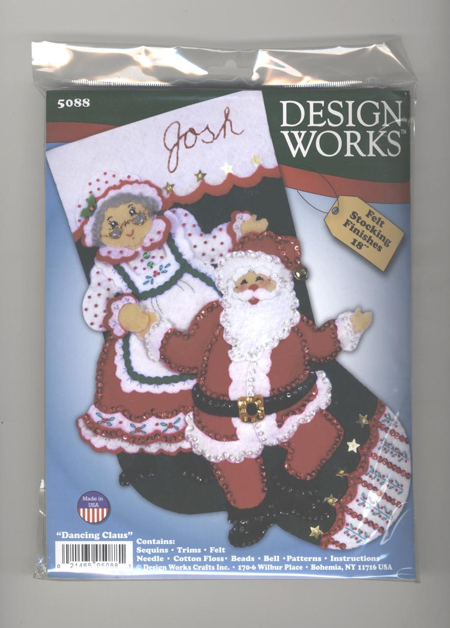 Design Works - Dancing Claus Felt Stocking