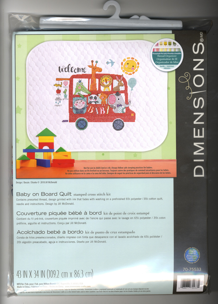 Dimensions Baby Hugs  - Baby on Board Quilt