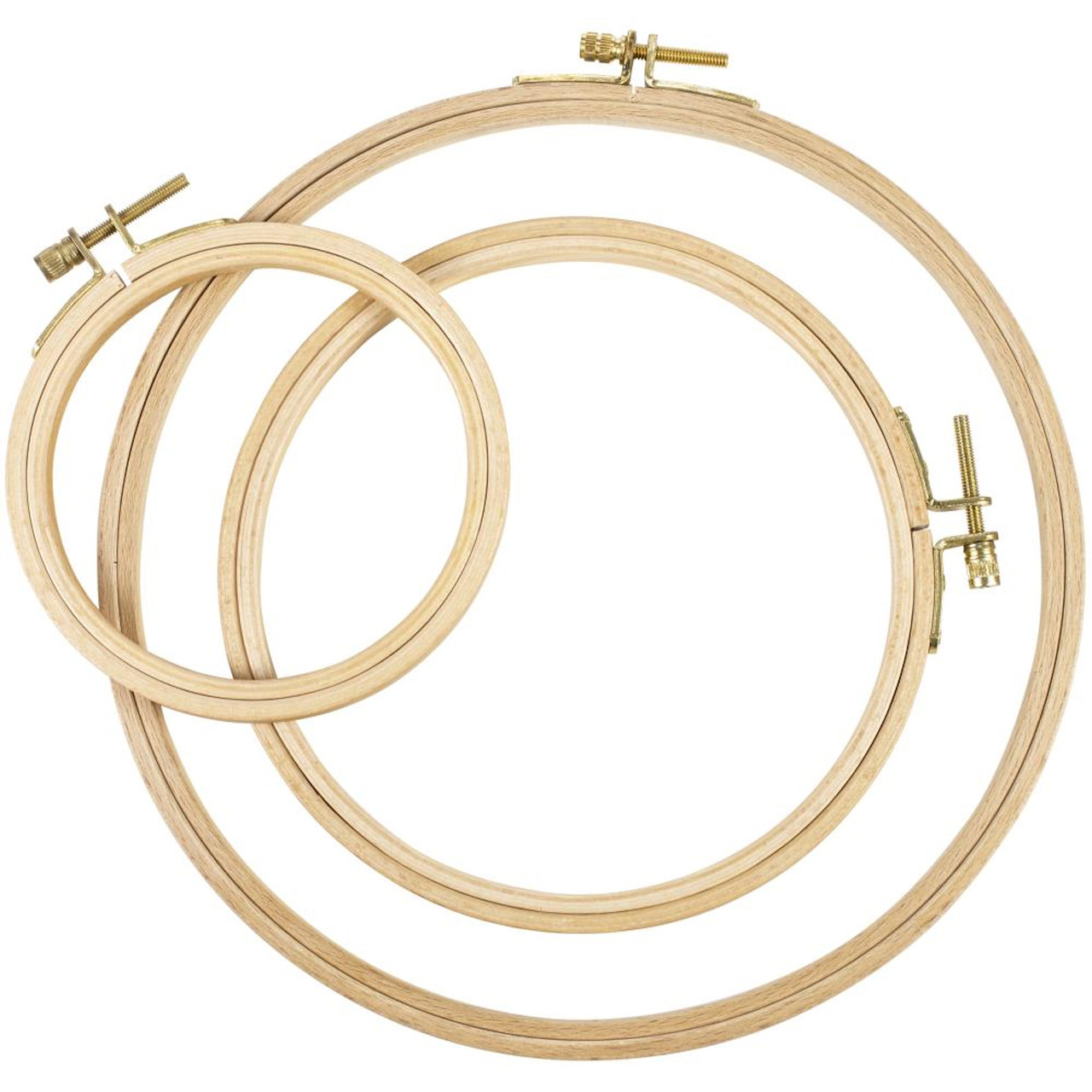 Frank A. Edmunds Beechwood Embroidery Hoop Set (3 Hoops)