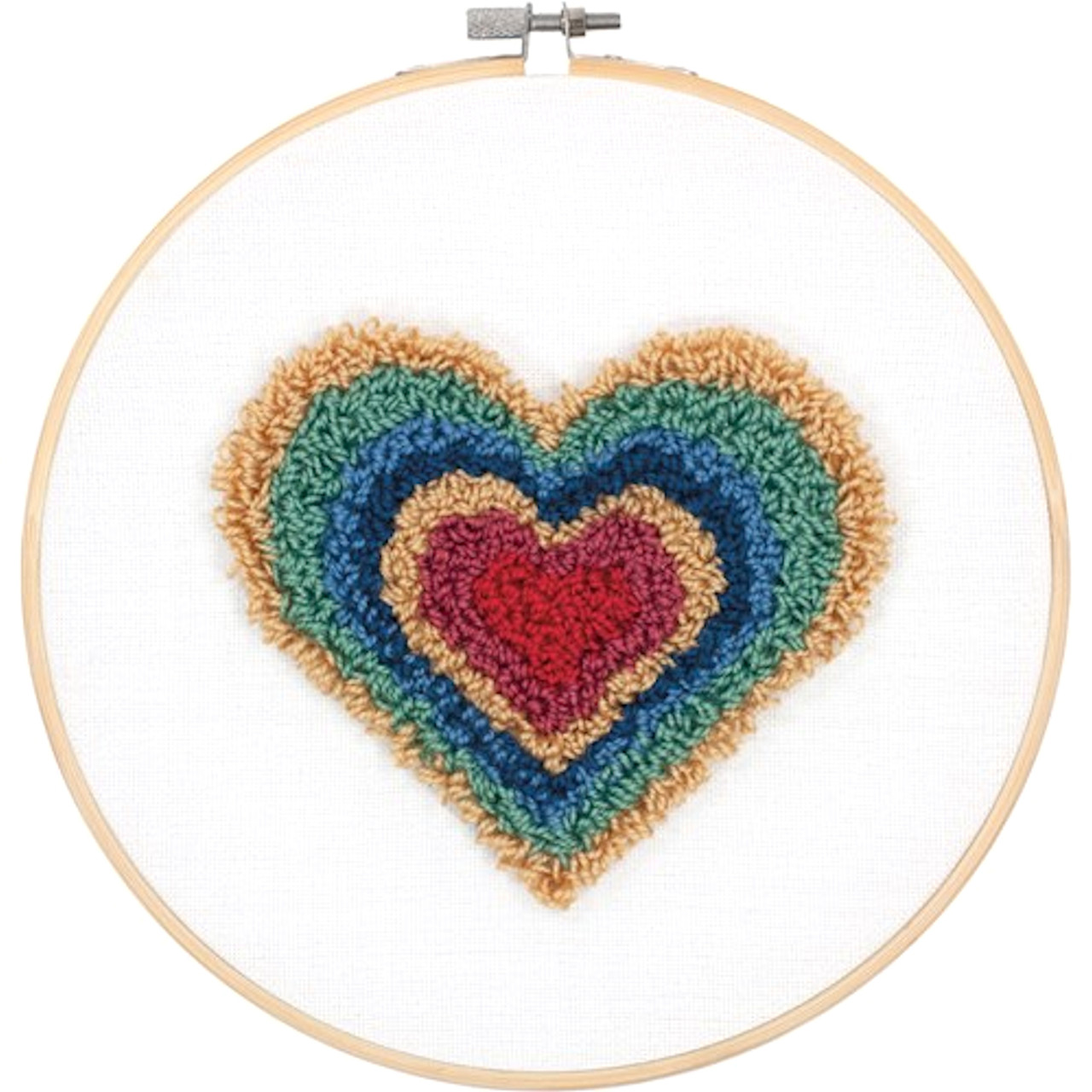 Dimensions Punch Needle - Heart Retro