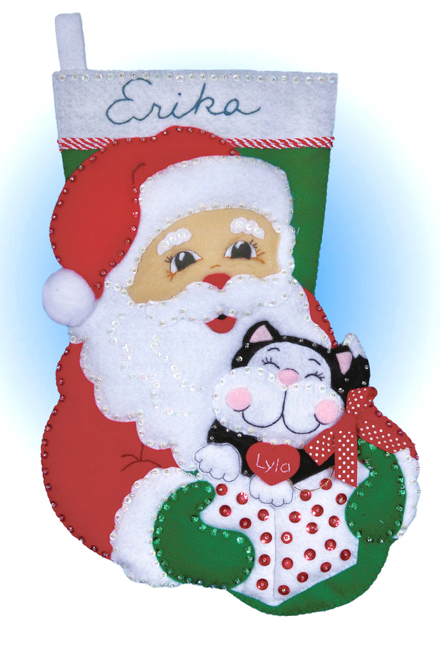 Design Works -  Santa & Kitten Stocking