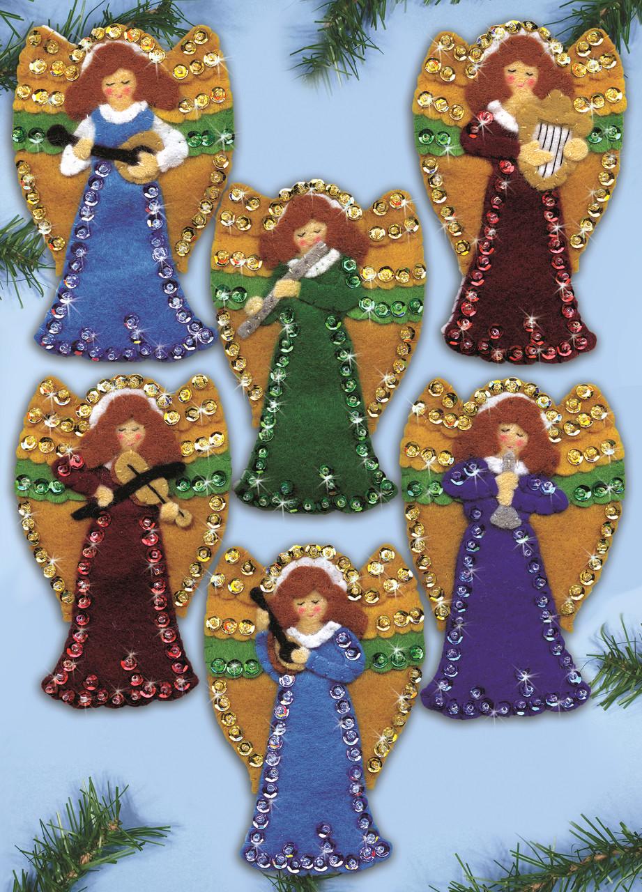 Design Works - Musical Angels Felt Ornaments (6)
