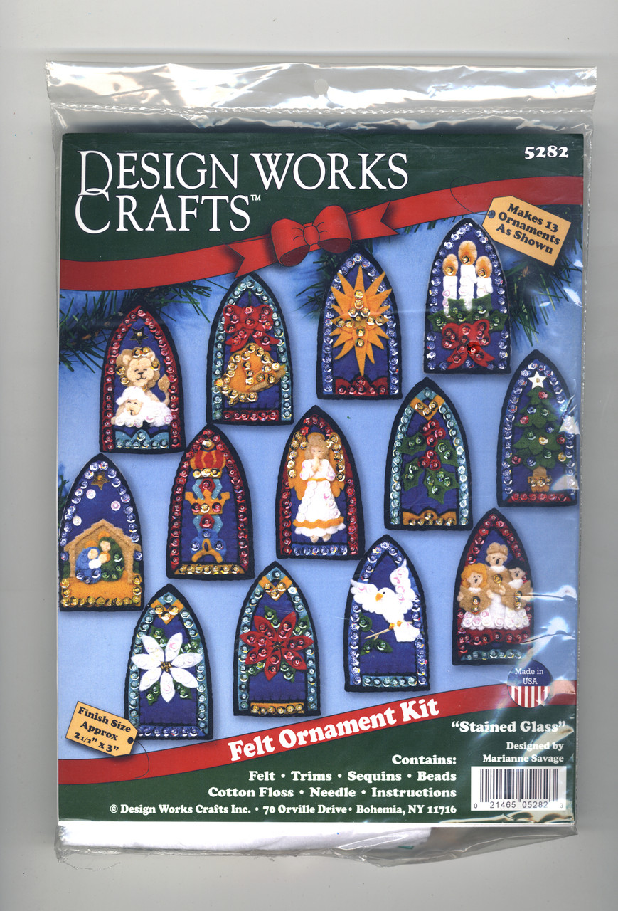 Design Works - Stained Glass Felt Ornaments (13)