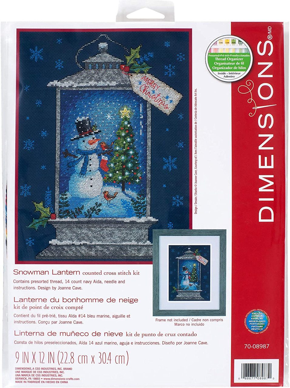 Dimensions - Snowman Lantern