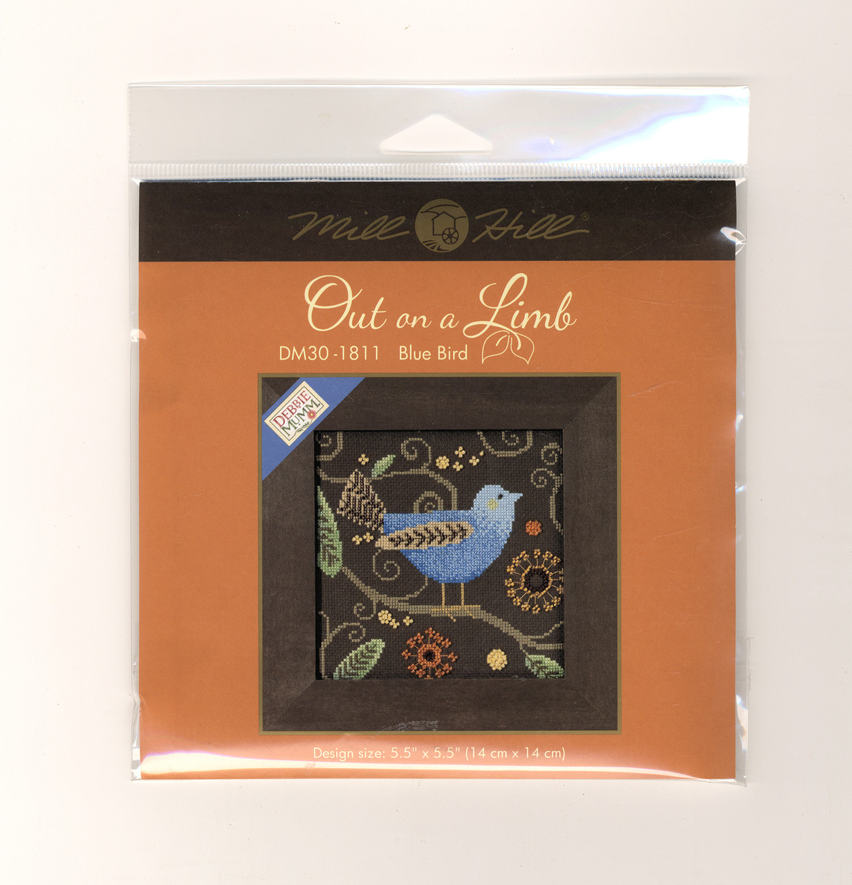 Mill Hill / Debbie Mumm - Blue Bird Out on a Limb