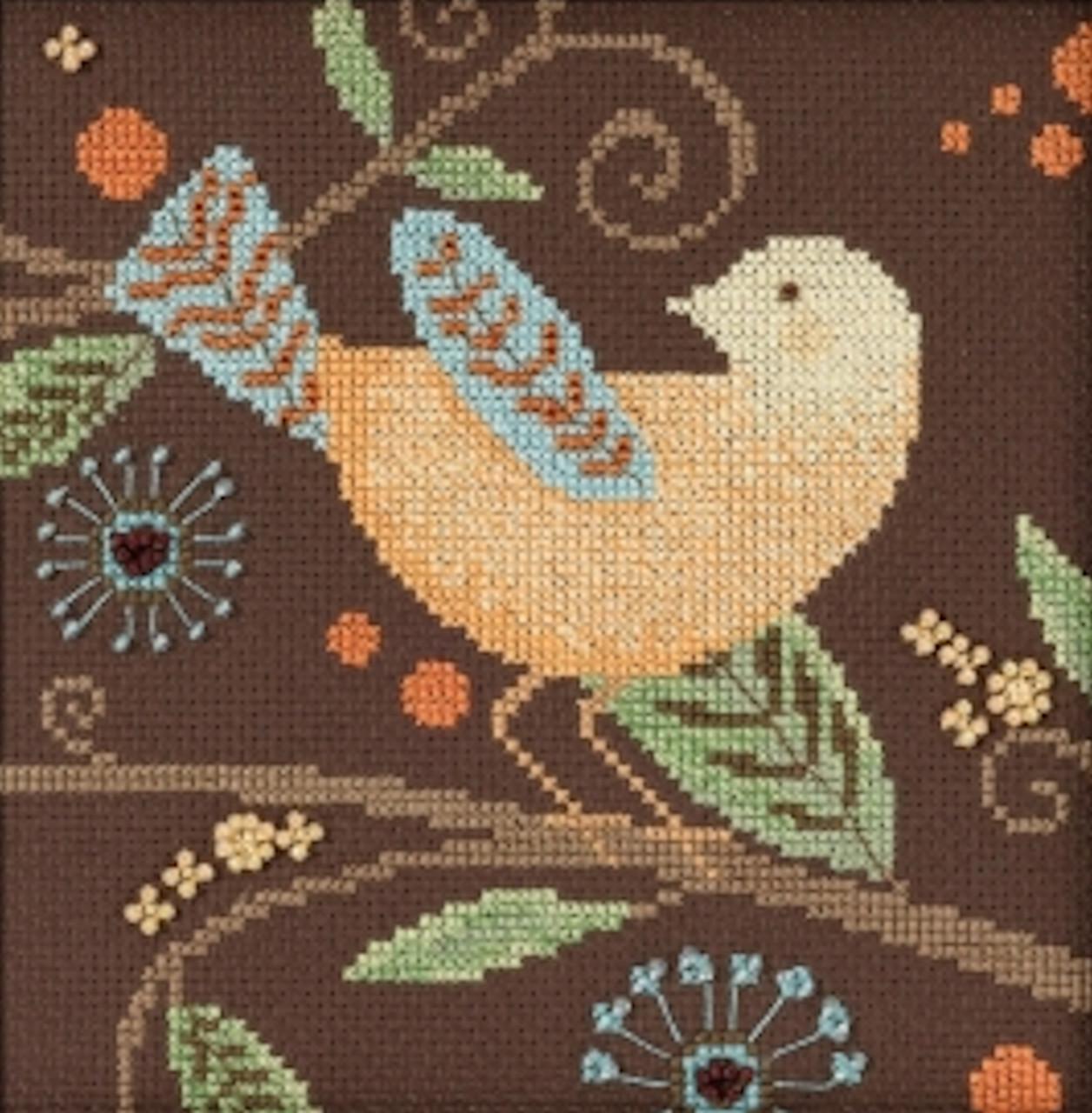 Mill Hill / Debbie Mumm -  Yellow Bird Out on a Limb