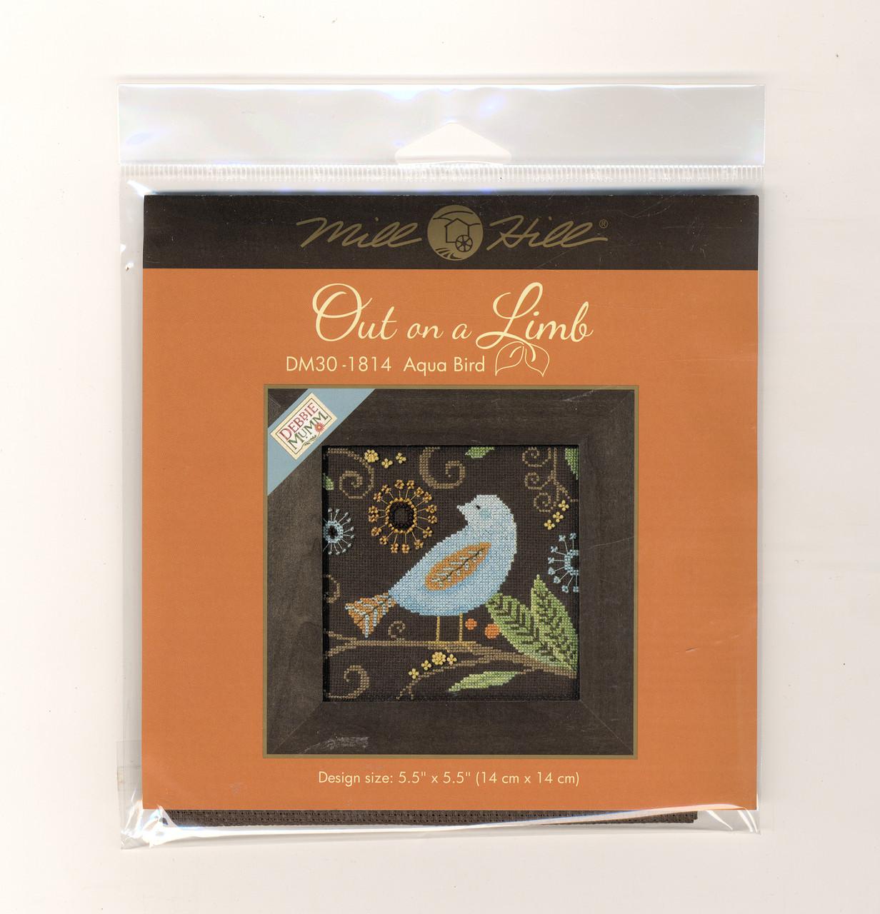 Mill Hill / Debbie Mumm -  Aqua Bird Out on a Limb