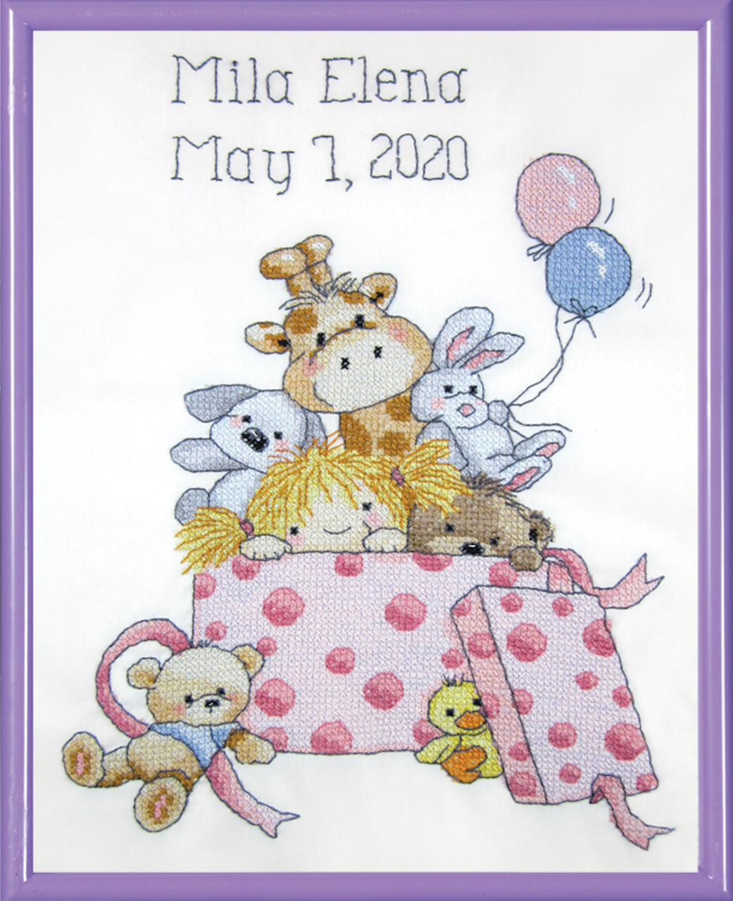 Janlynn - Toy Box Girl Birth Announcement