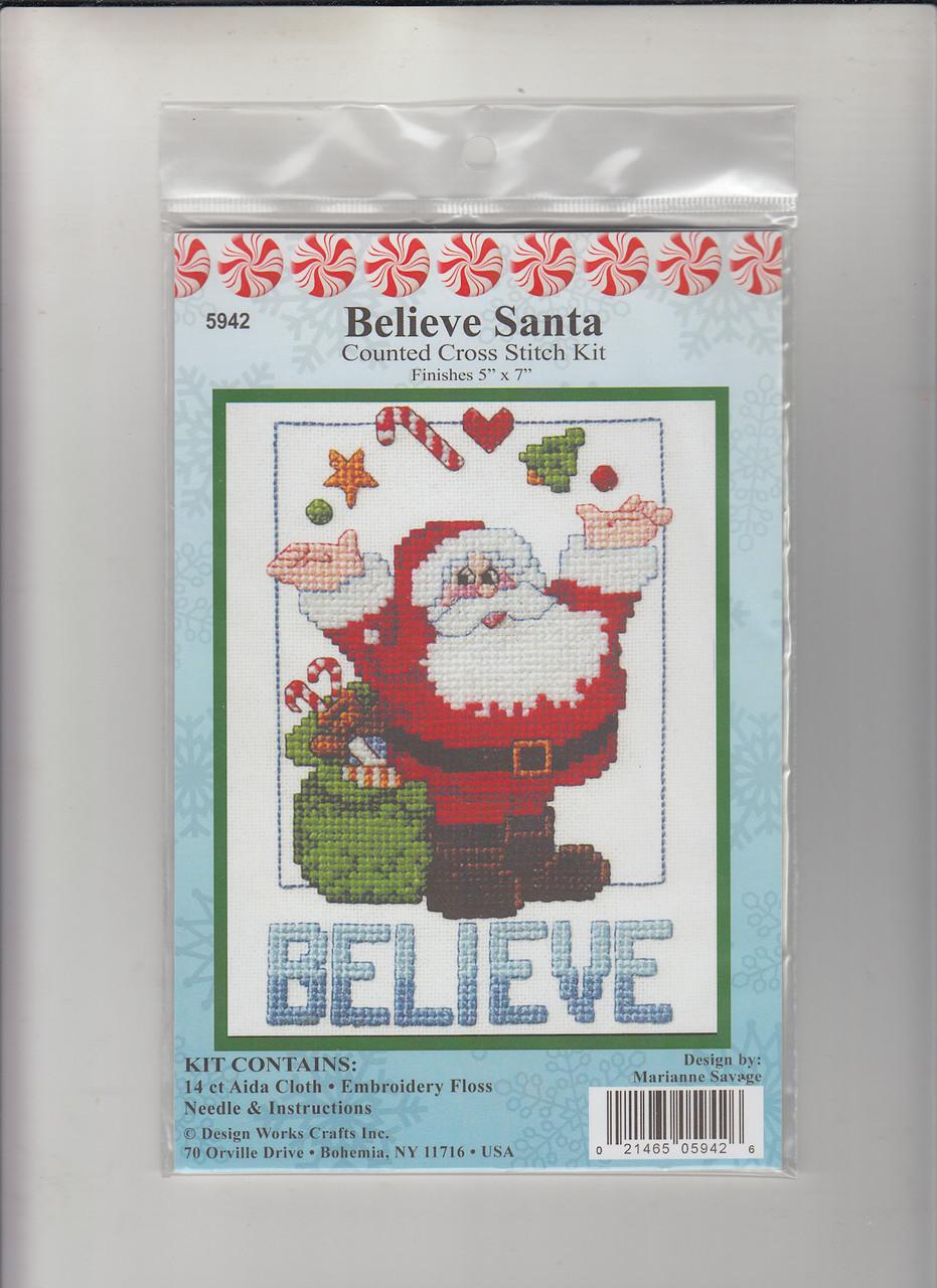 Design Works -  Beleive Santa