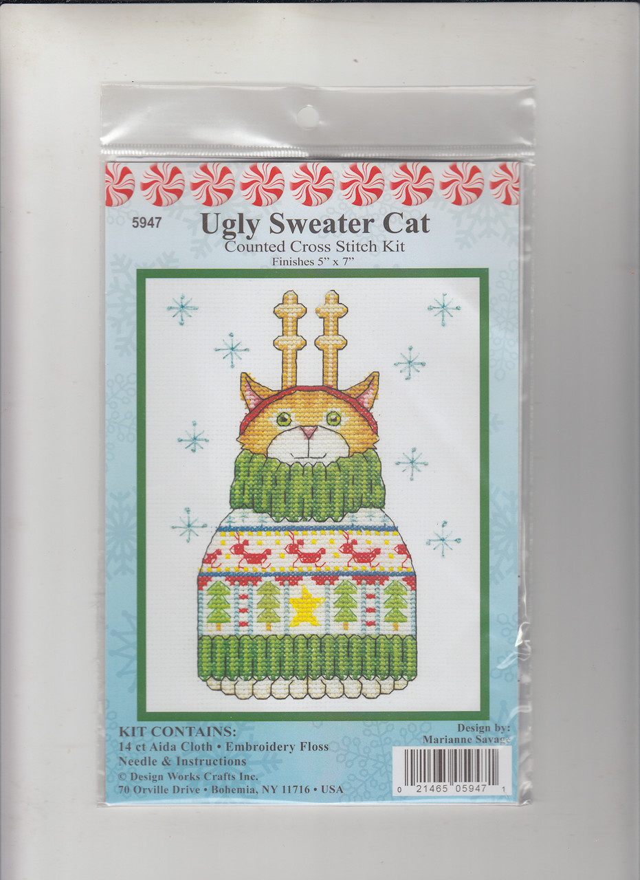 Design Works -  Ugly Sweater Cat