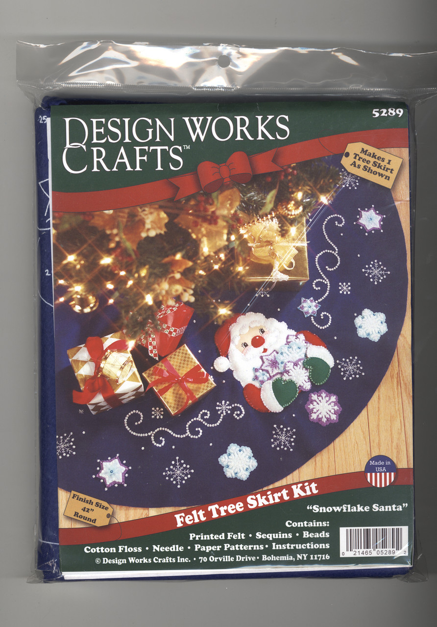 Design Works - Snowflake Santa Felt Tree Skirt