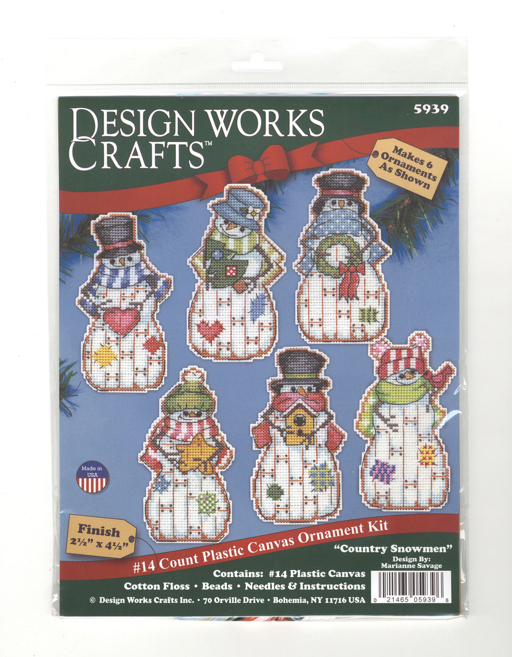 Design Works - Country Snowman Ornaments (6)