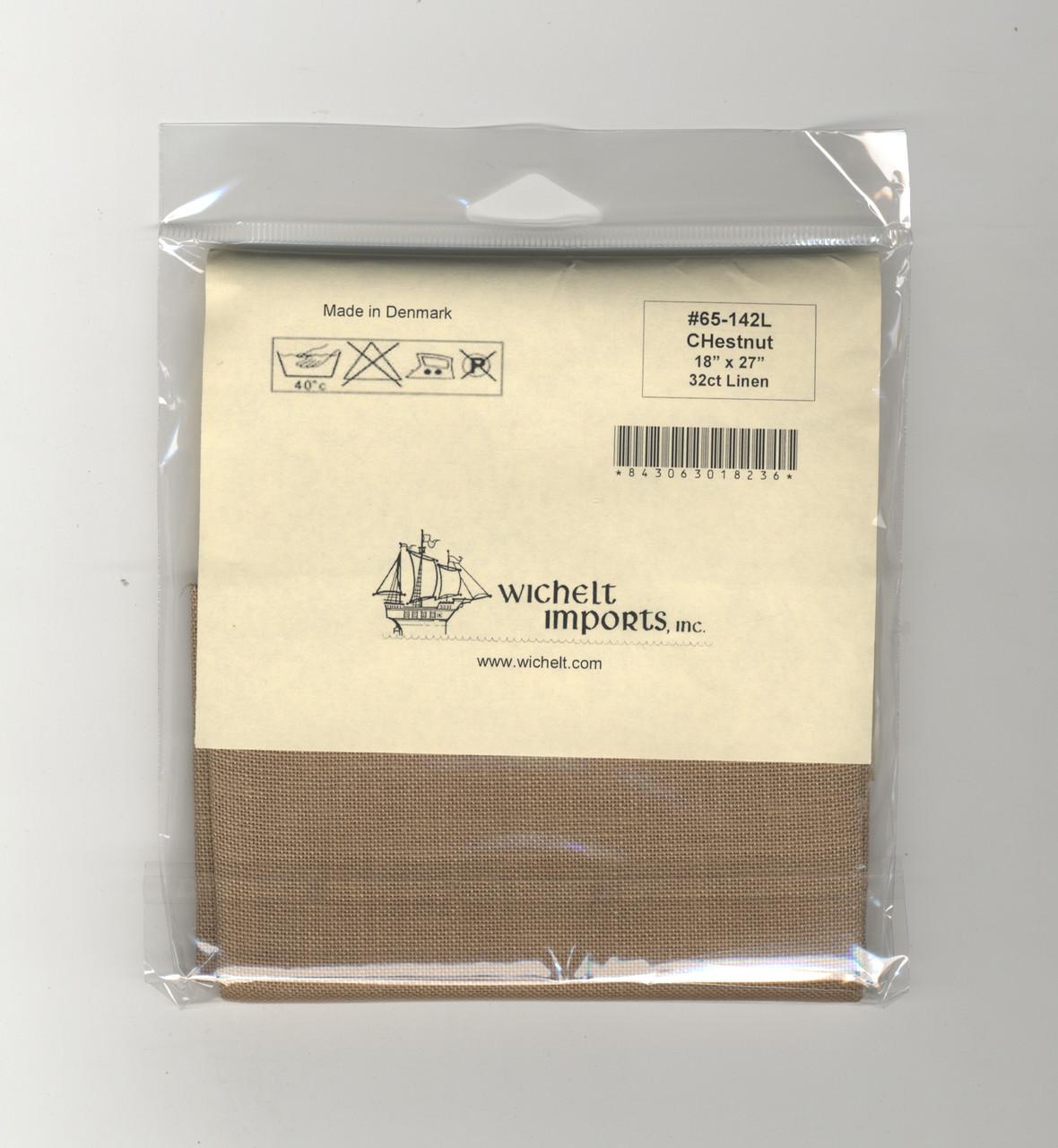 "Wichelt - 32 Count Chestnut Linen 18"" x 27"""