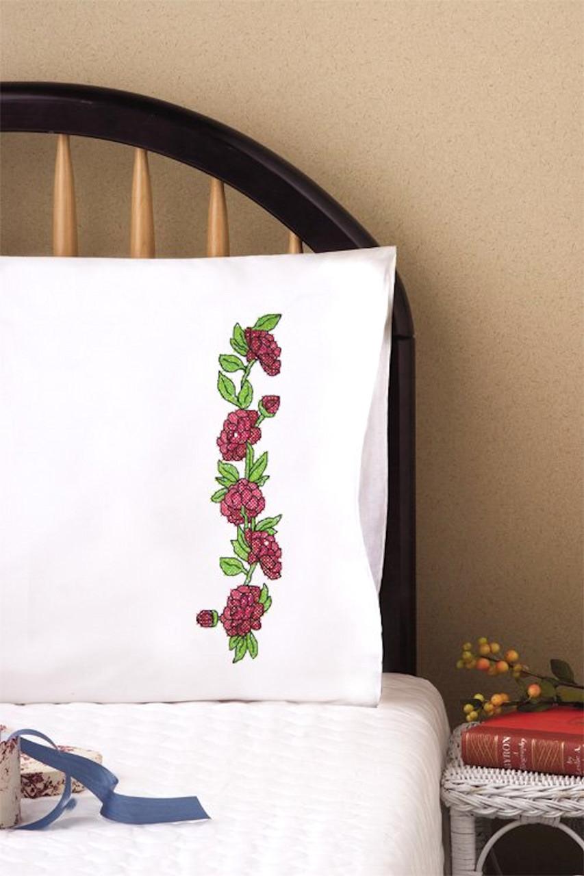 Design Works -  Red Roses Pillowcases
