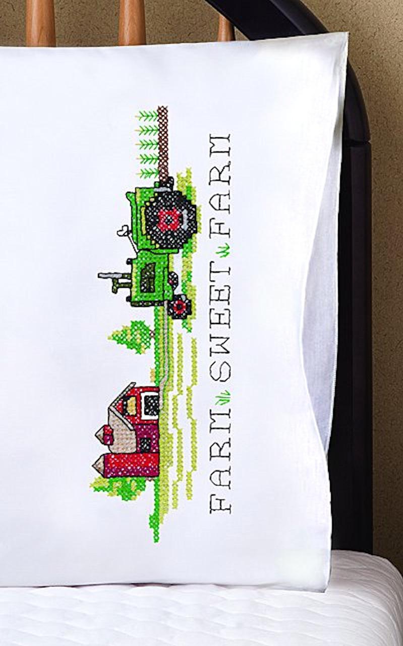 Design Works -  Farm Sweet Farm Pillowcases