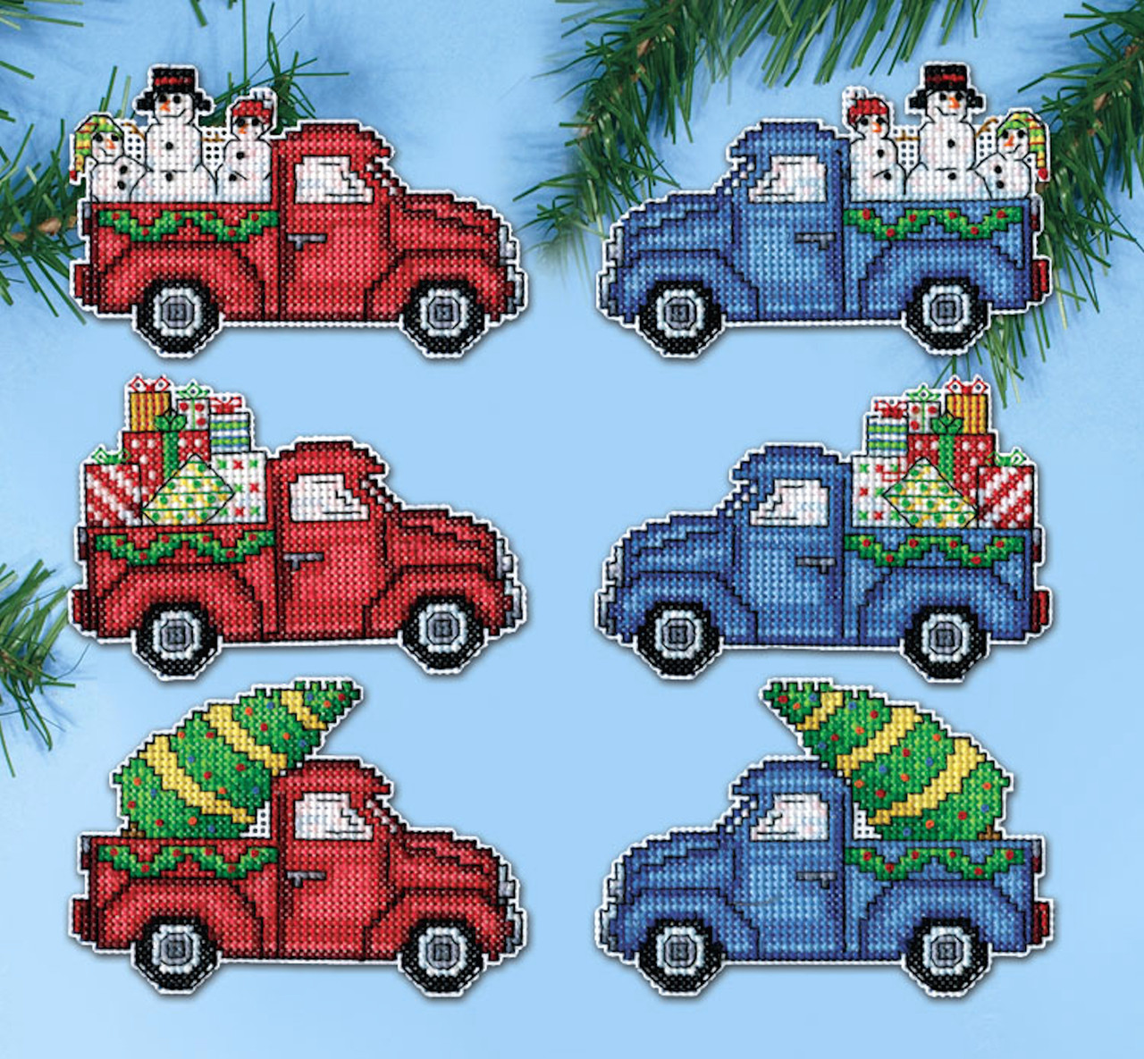 Design Works - Holiday Pickups Ornament Set (6)