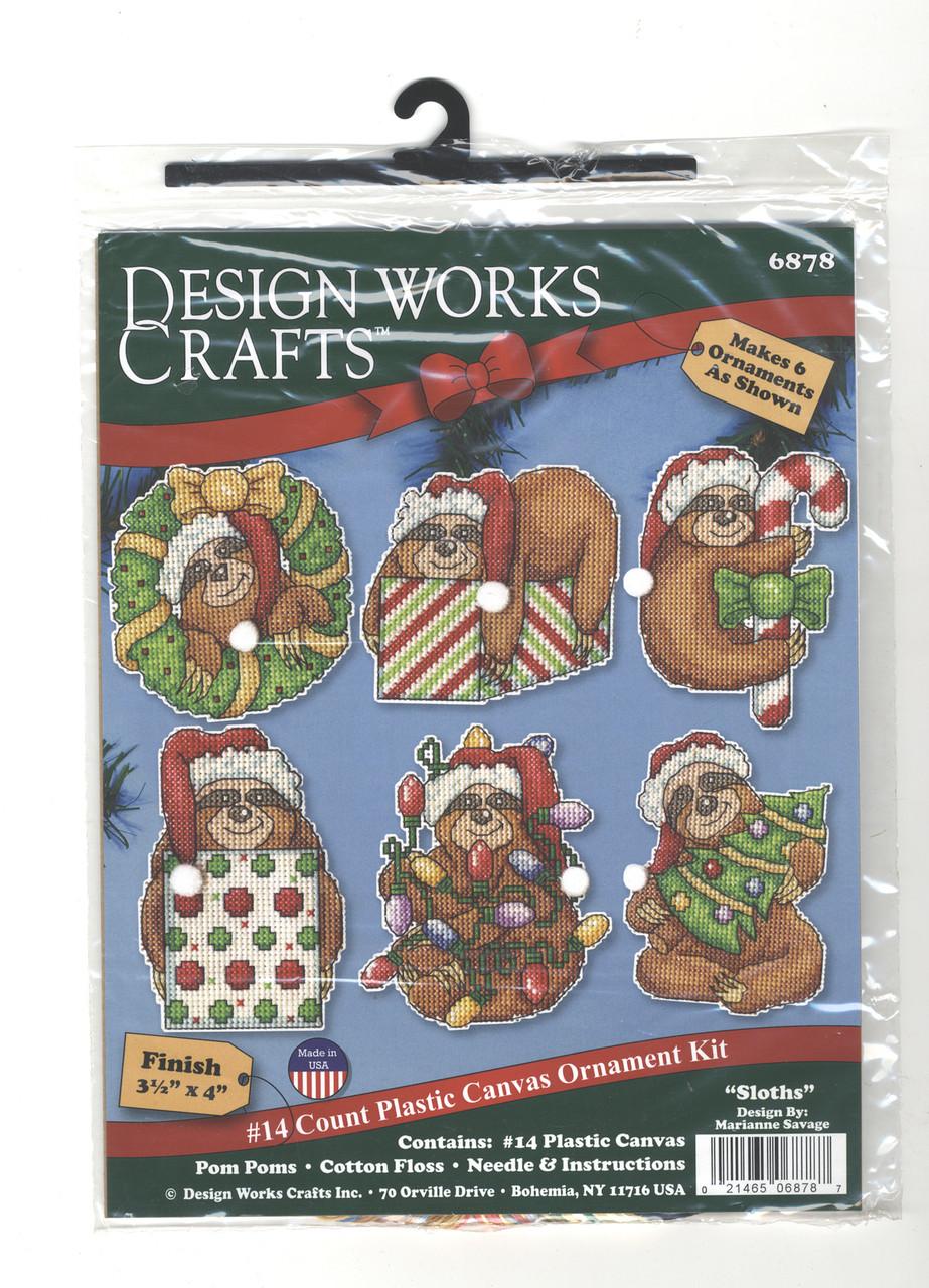 Design Works  - Sloths Ornament Set (6)