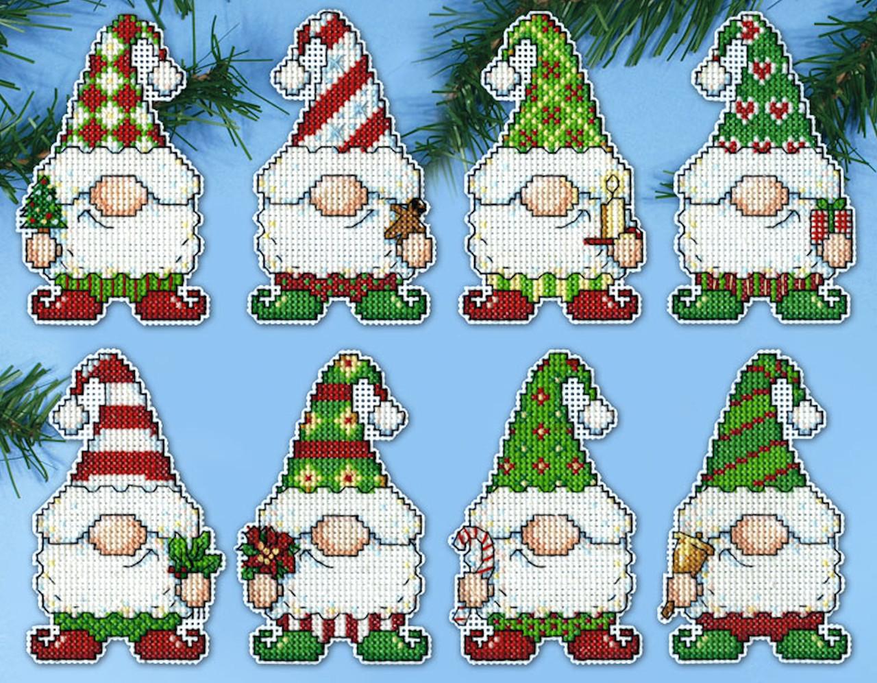 Design Works  - Gnomes Ornament Set (8)