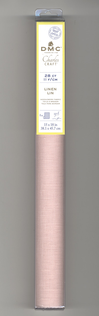 """Charles Craft  - 28 Count Pink Linen 15"""" x 18"""""""