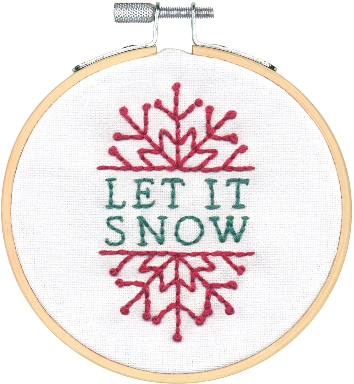 Dimensions Needlecrafts Joy Wreath Christmas Kit 4 Embroidery Hoop