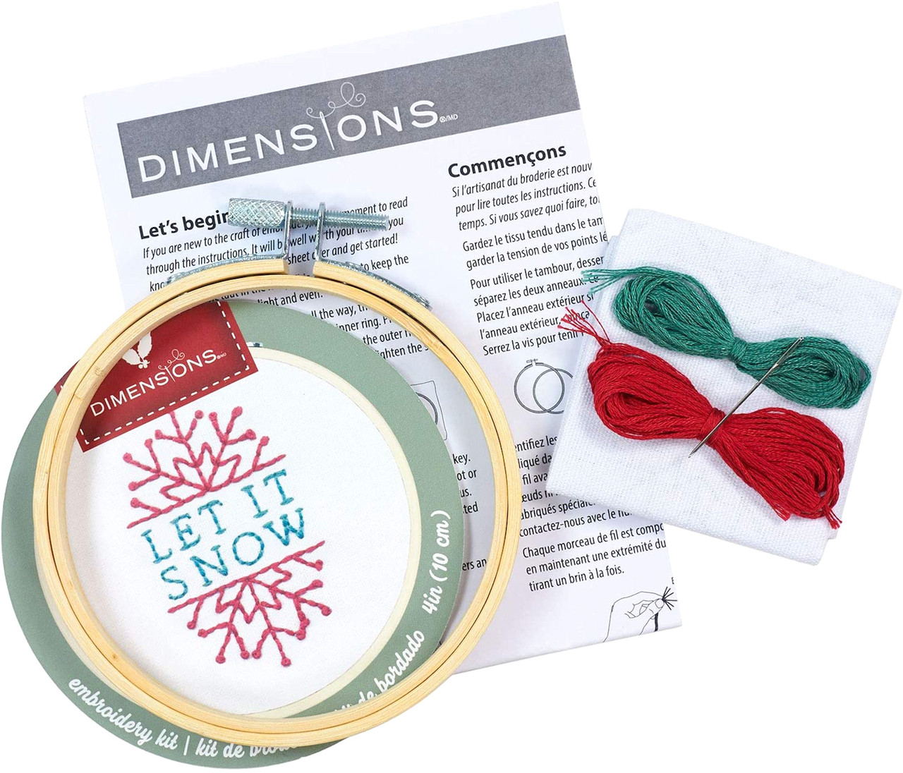 Dimensions Minis - Let it Snow with Hoop