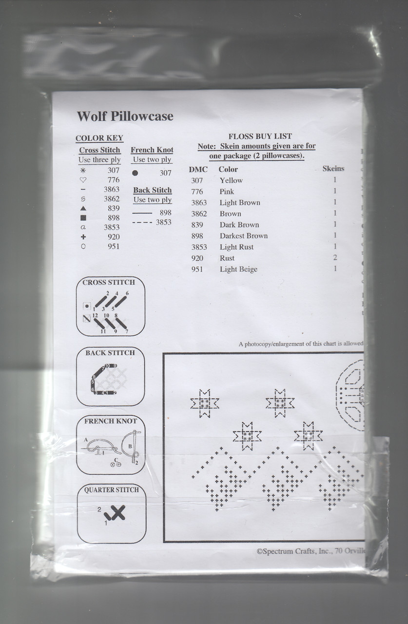 Design Works -  Wolf Pillowcases