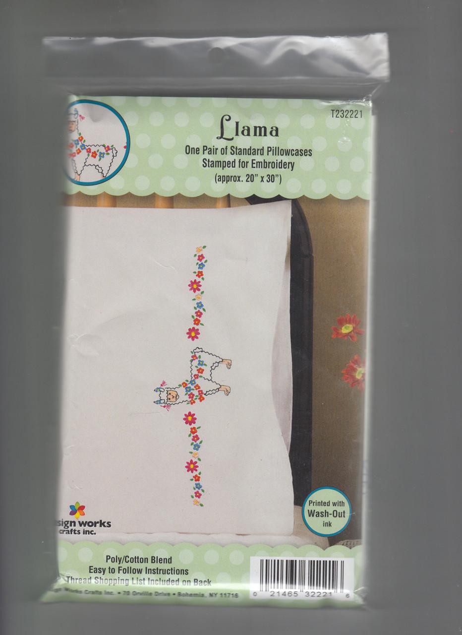Design Works -  Llama Pillowcases