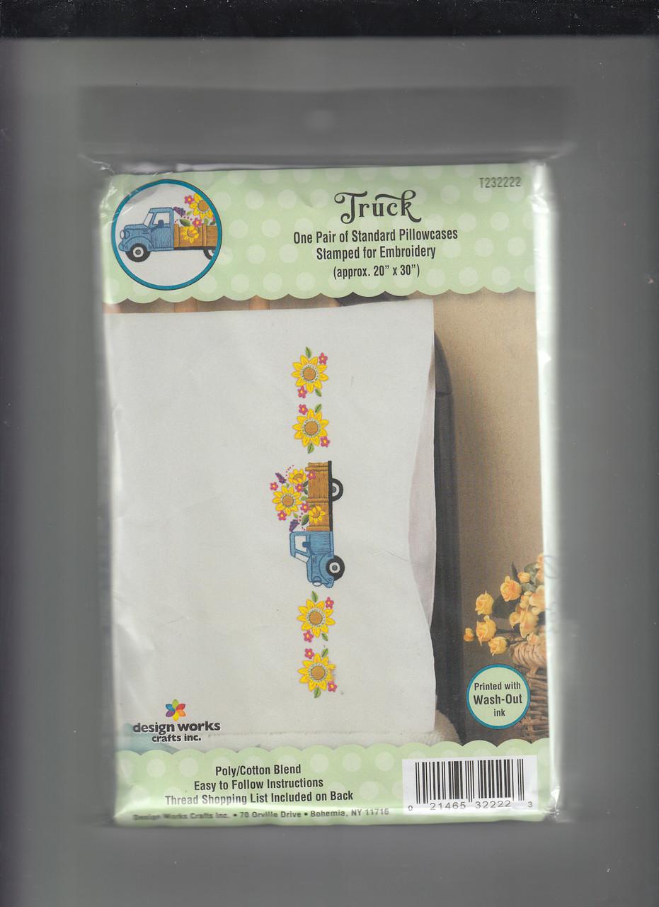Design Works -  Sunflower Truck Pillowcases