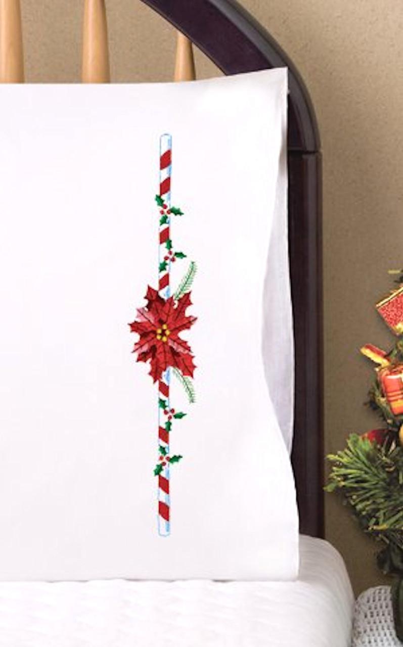 Design Works -  Poinsettia Pillowcases