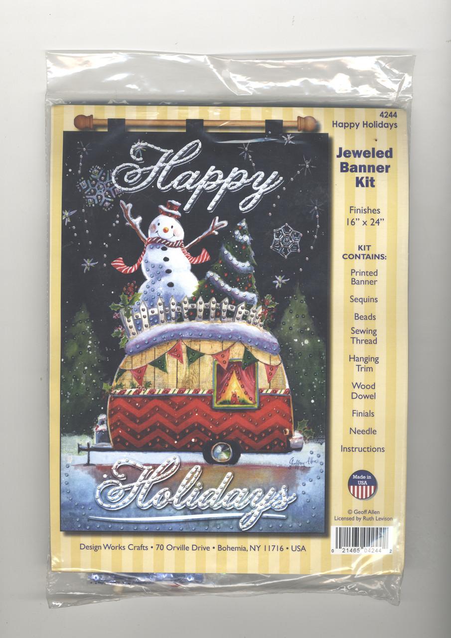 Design Works - Happy Holidays Jeweled Banner