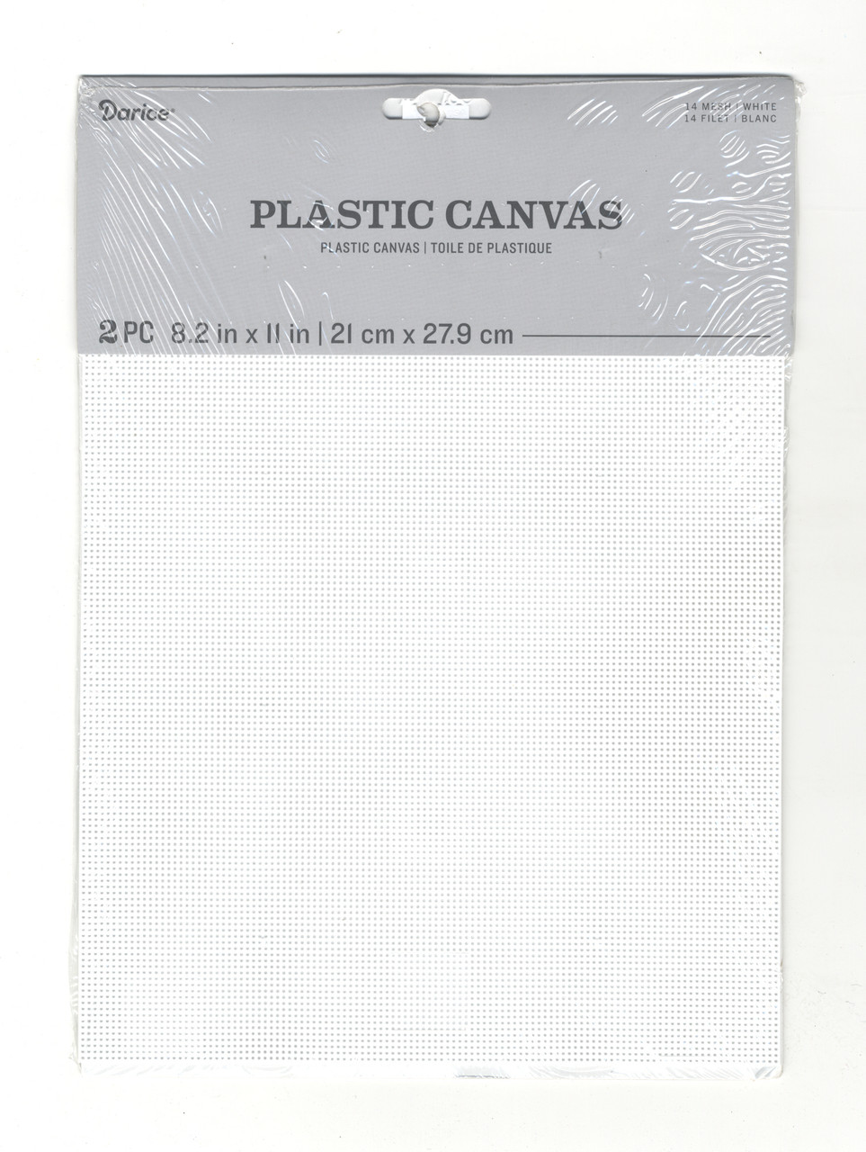 """Darice - 2 Pack of White Plastic Canvas 14 Count 8.2""""  x 11"""""""