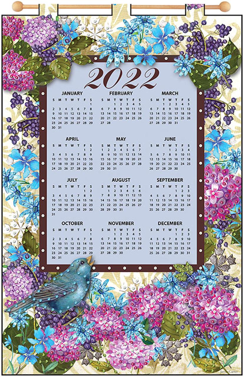Design Works - Blue Bird 2022 Jeweled Calendar Kit