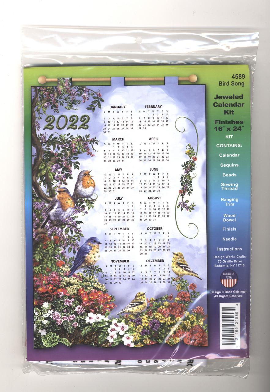 Design Works - Bird Song 2022 Jeweled Calendar Kit