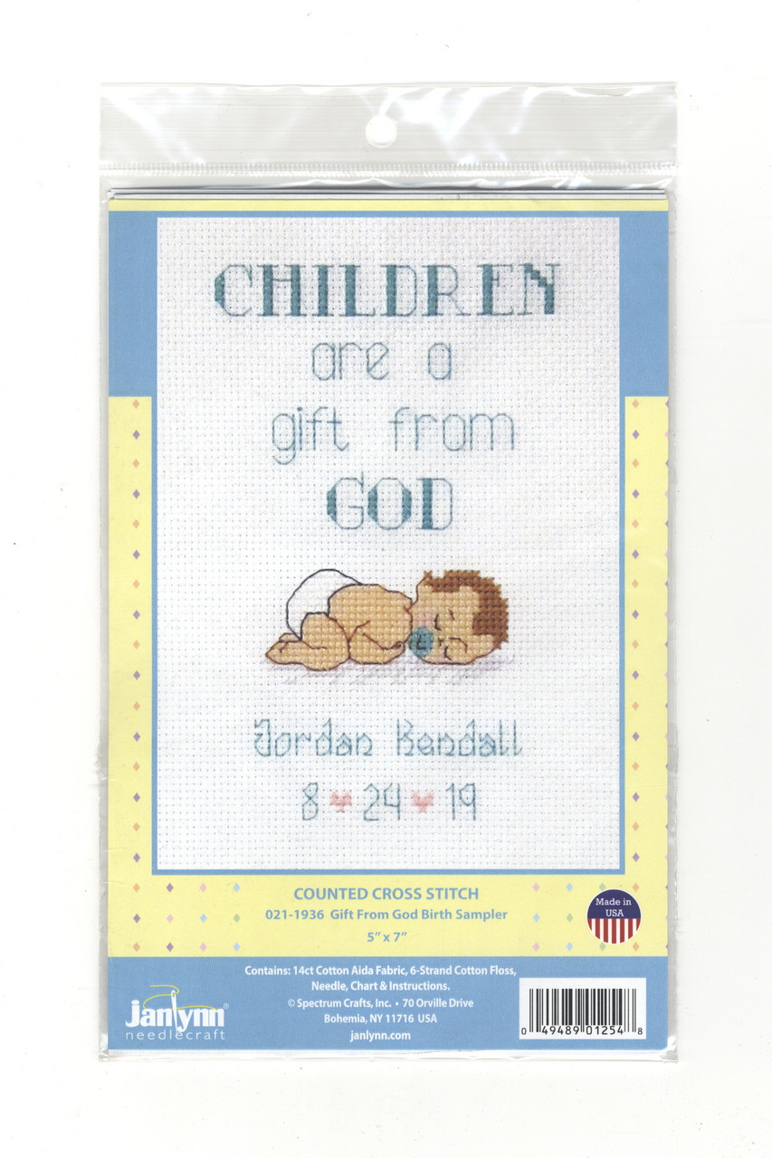 Janlynn - Gift From God Birth Sampler